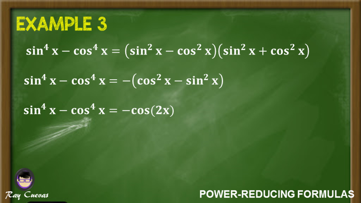 Example 3: Simplifying Trigonometric Functions to the Fourth Power