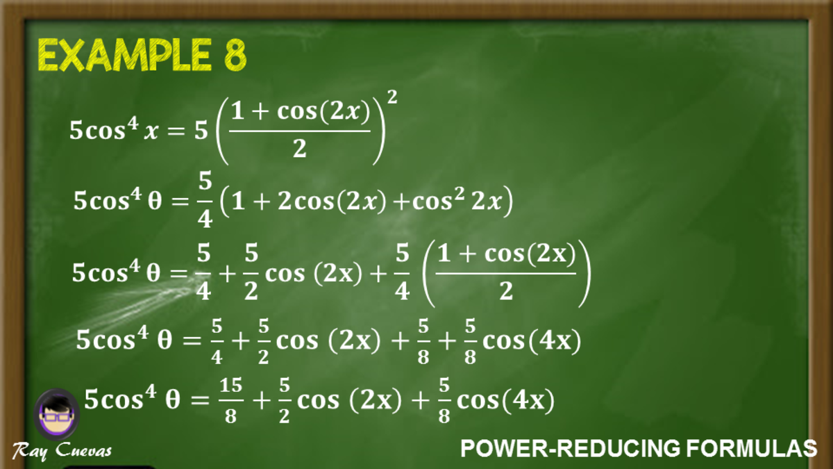 Example 8: Proving Equations Using Power-Reducing Formula