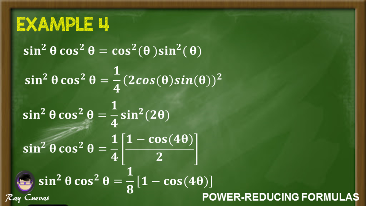 Example 4: Simplifying Equations to Sines and Cosines of First Power