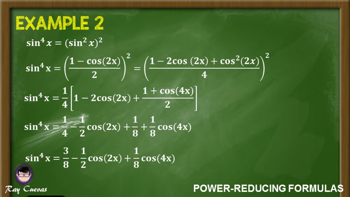 Example 2: Rewriting a Sine Equation to the Fourth Power Using the Power-Reducing Identities