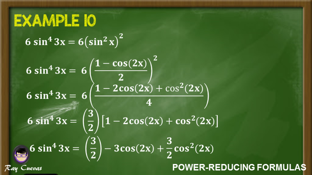Example 10: Rewriting a Trigonometric Expression Using the Power-Reducing Formula