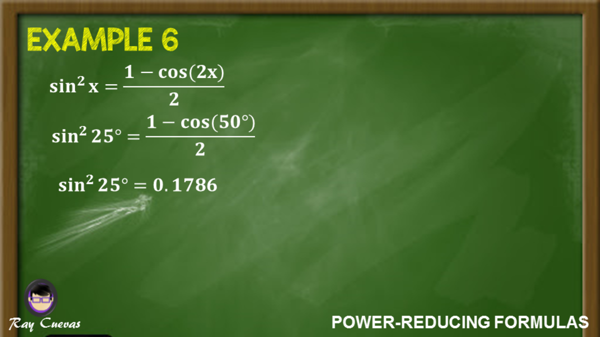 Example 6: Solving the Value of a Sine Function Using Power-Reducing Formula