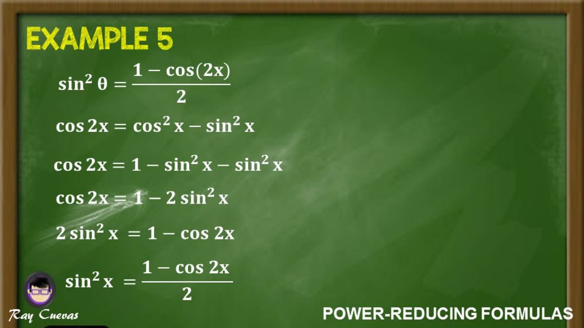 Example 5: Proving the Power-Reducing Formula for Sine