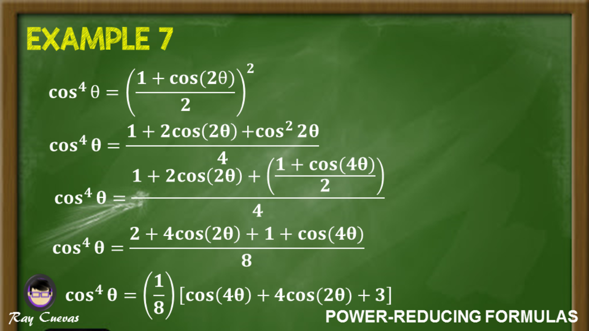 Example 7: Expressing the Fourth Power of Cosine to the First Power