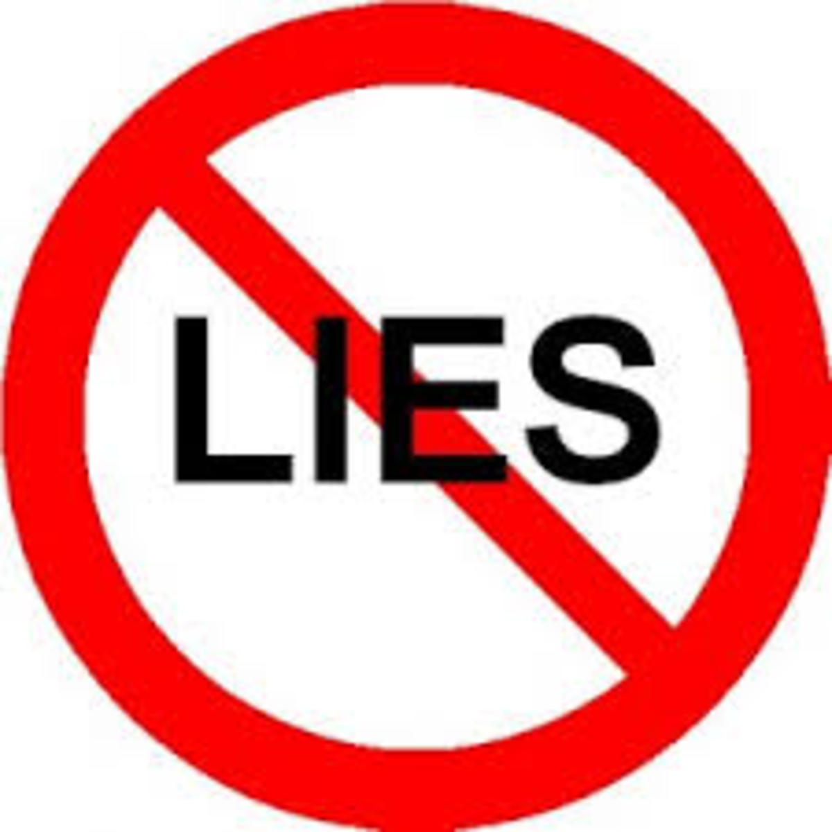 Try to tell small truths if you cannot stop lying