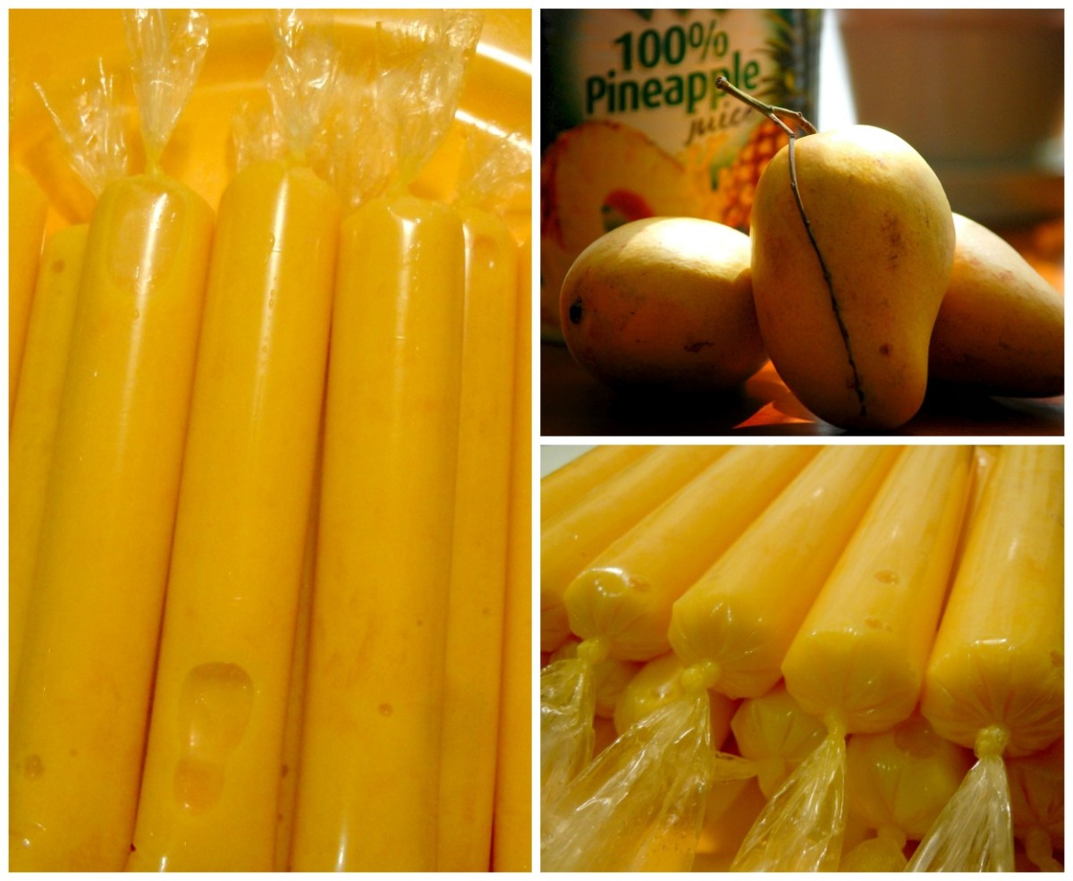 Mango Ice Candy with 100% mango puree and pineapple juice