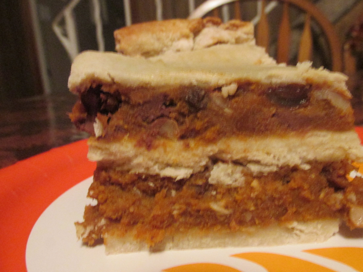 Luscious, creamy, pumpkin and chocolate layers.