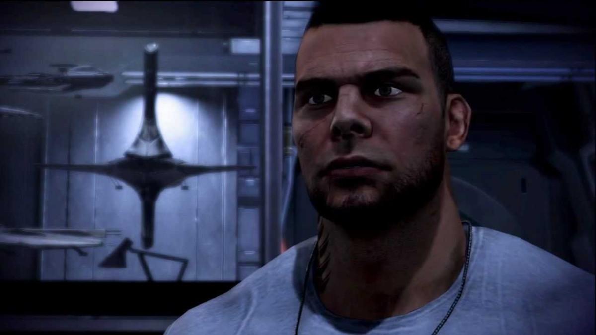 James Vega (ugh) comes up to Shepard's cabin.