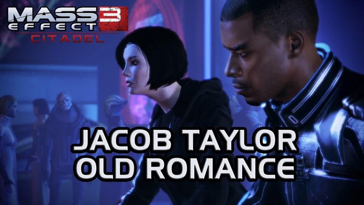 Shepard slaps Jacob in the DLC Citadel.