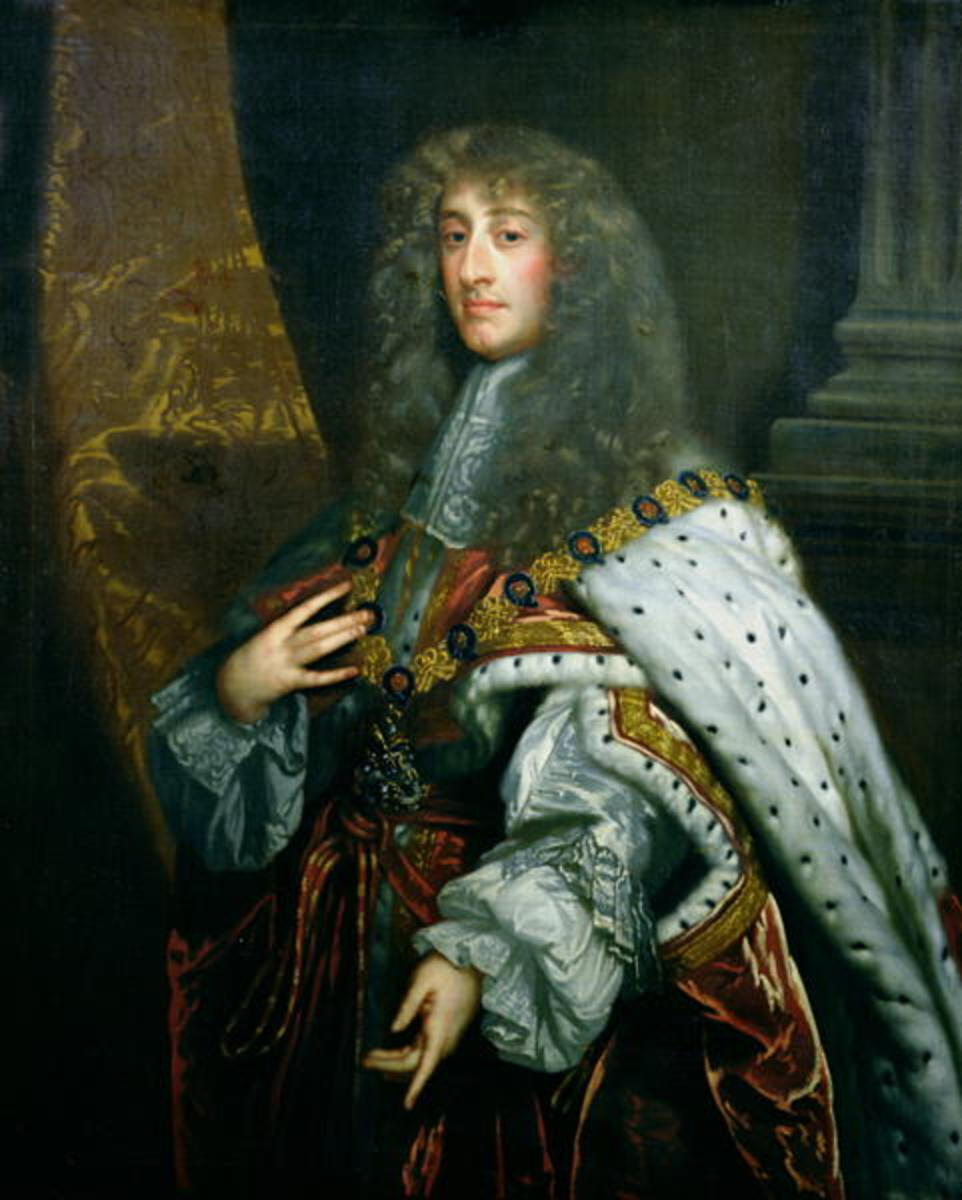"James II, ""abdicated"" king of England"