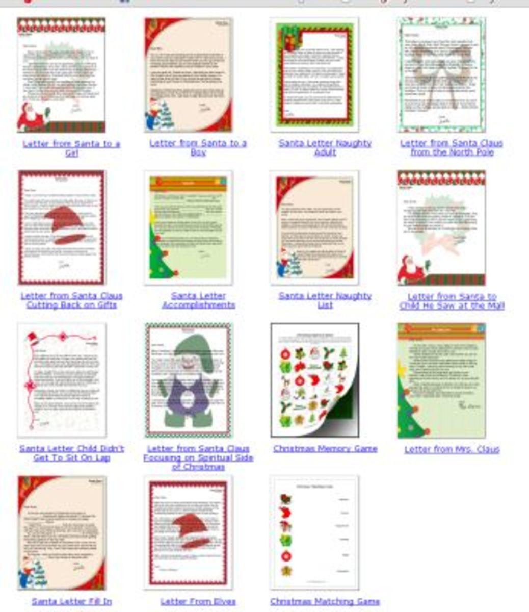 Santaprintables.com