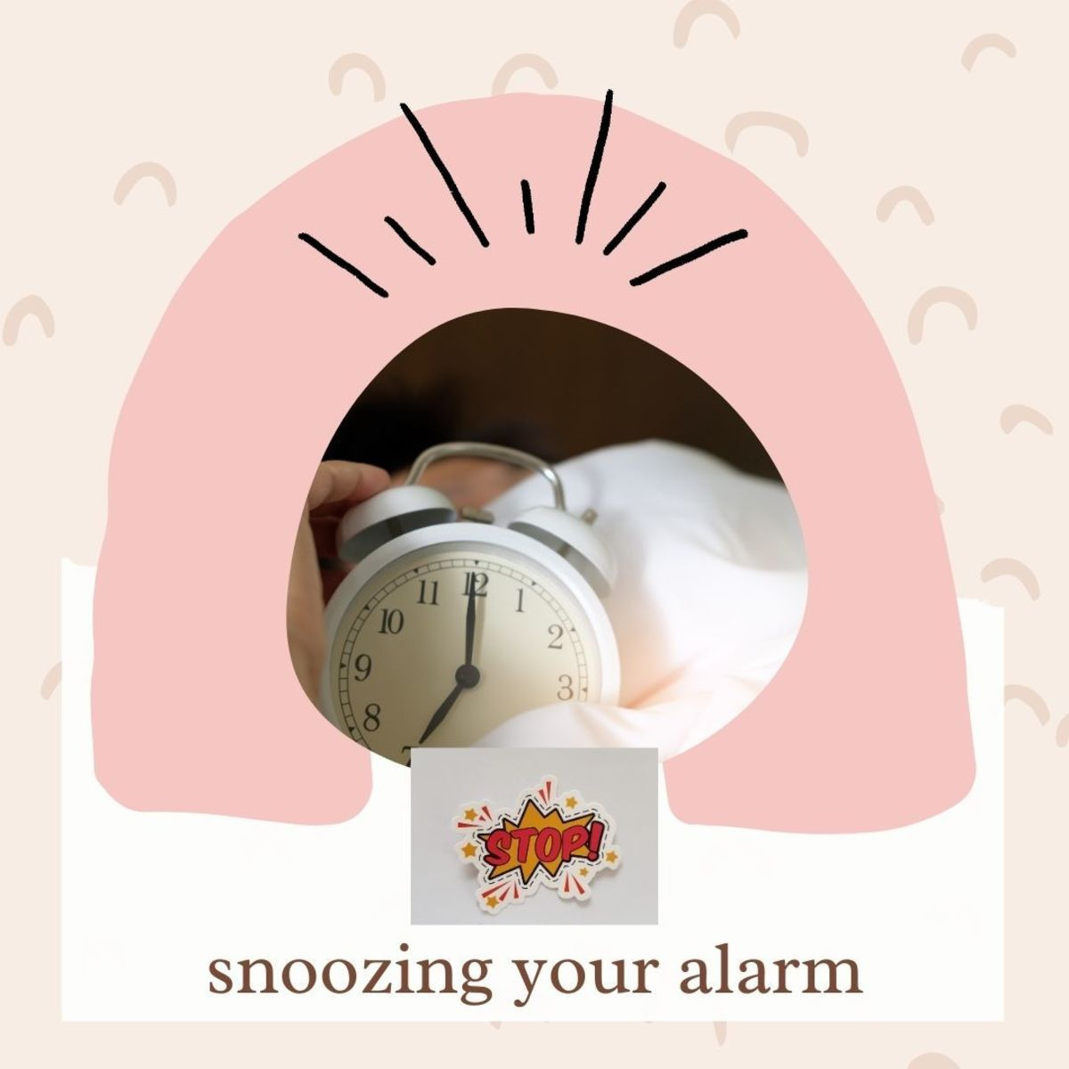 Don't snooze your alarm