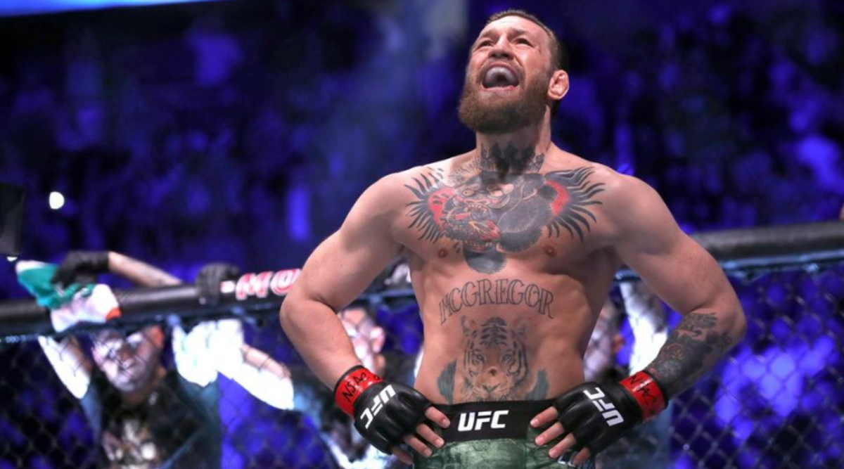 McGregor at his UFC 246 bout against Donald Cerrone.