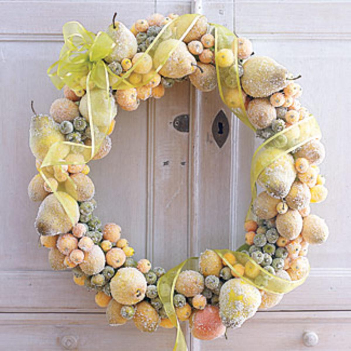 Sugar coated Christmas Wreath goodhousekeeping.com