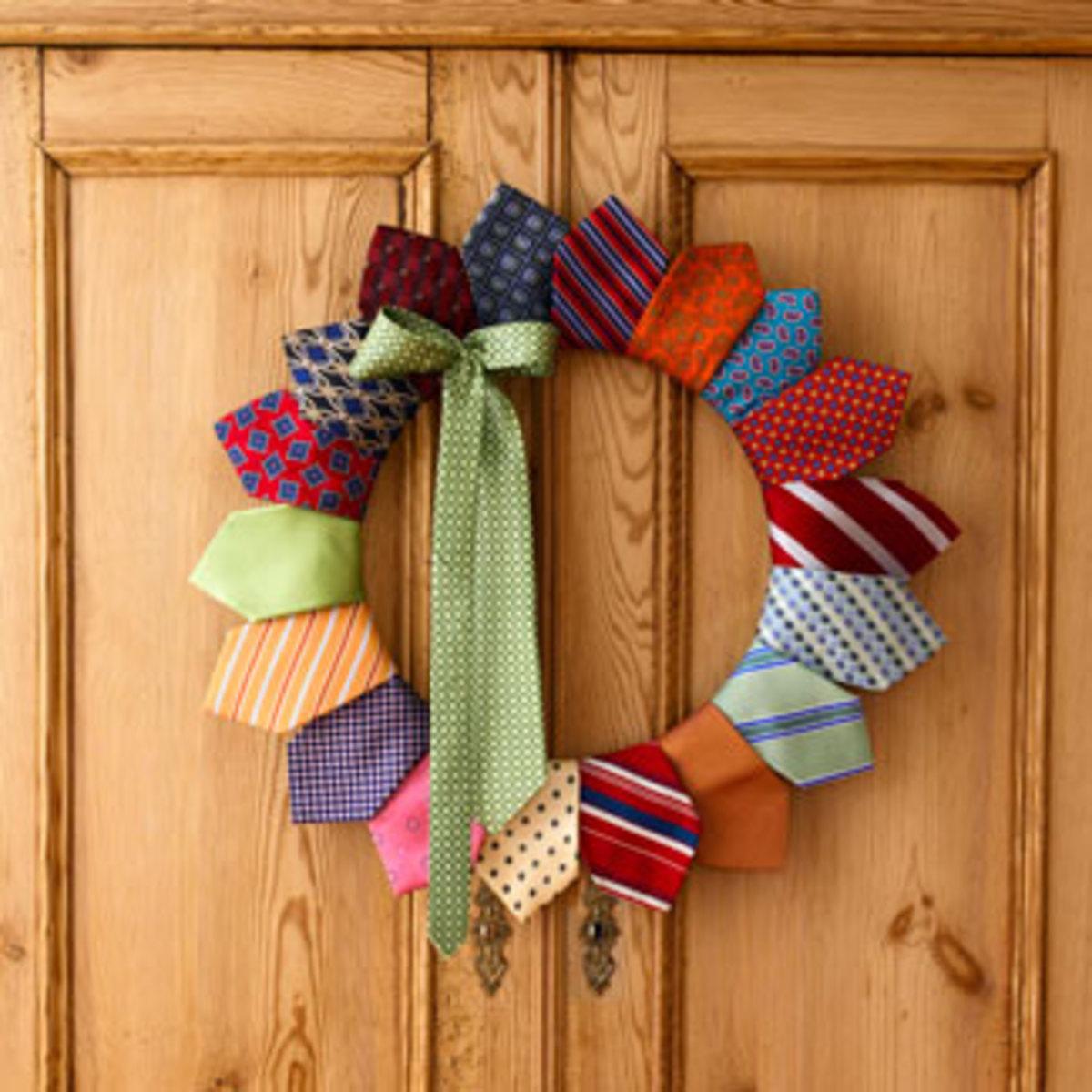 Ties Christmas Wreath