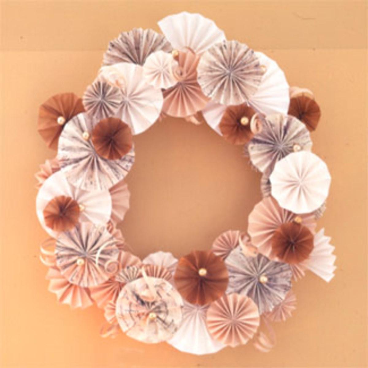 Tissue Paper Christmas Wreath goodhousekeeping.com