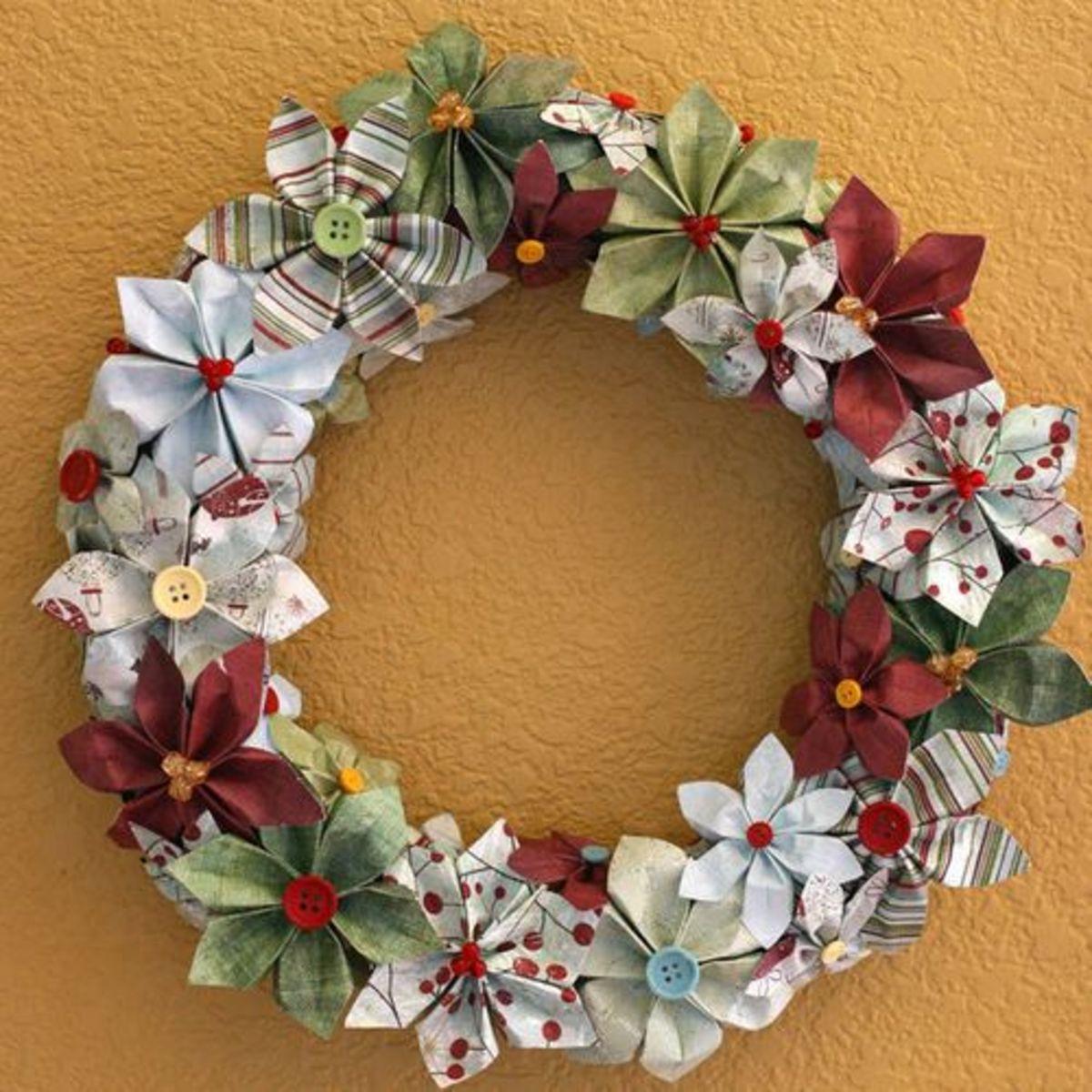 Paper Christmas Wreath missfancy.typepad.com