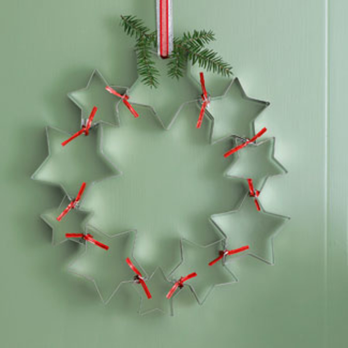Cookie cutter Christmas Wreath goodhousekeeping.com