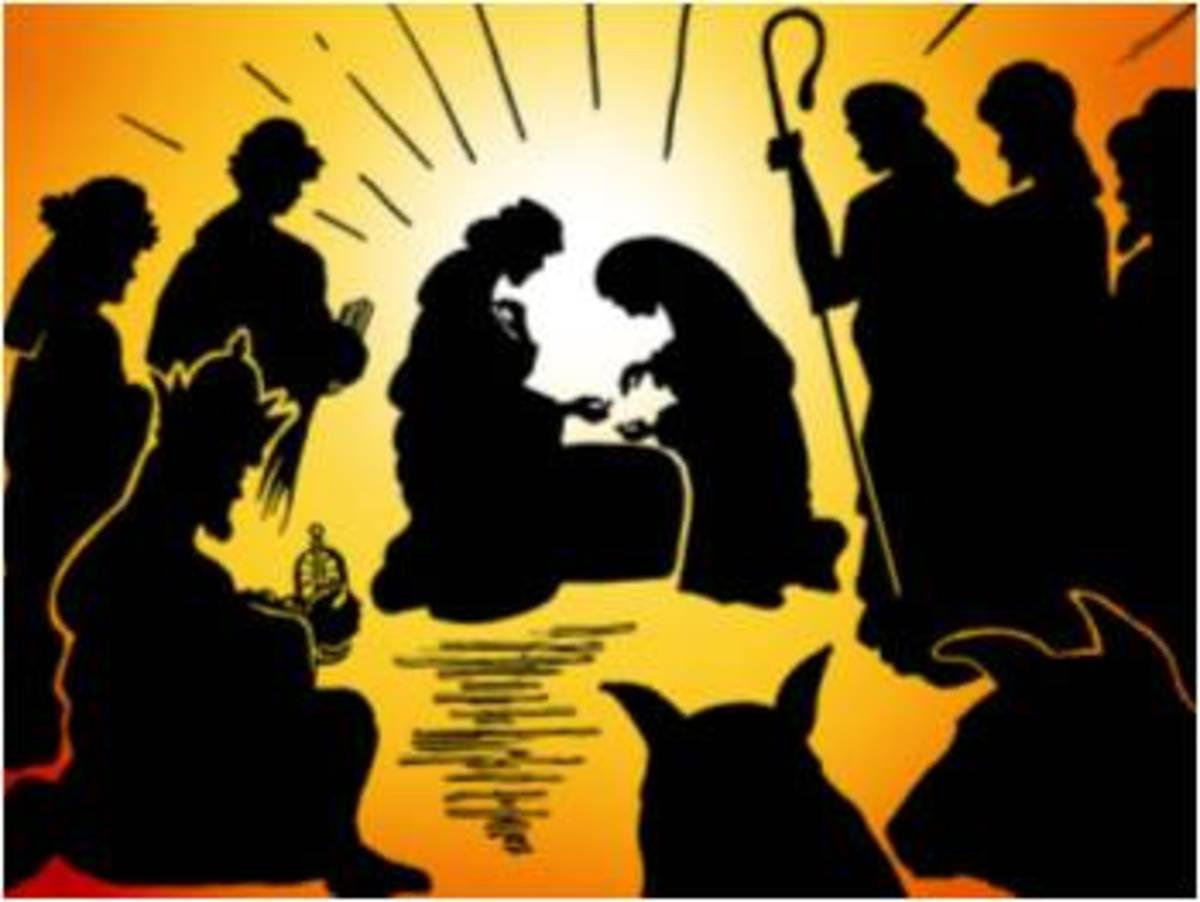 Nativity Clip Art with Silhouettes