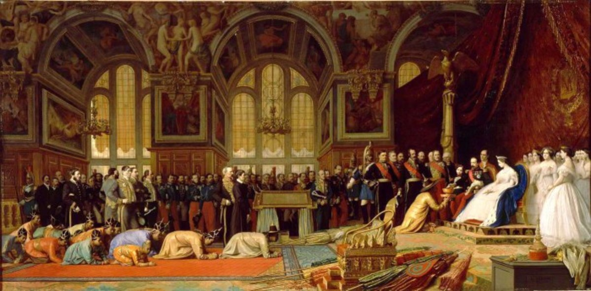 Napoléon III brought a new élan to French colonial expansion, as shown here by Siamese ambassadors presenting themselves to him.