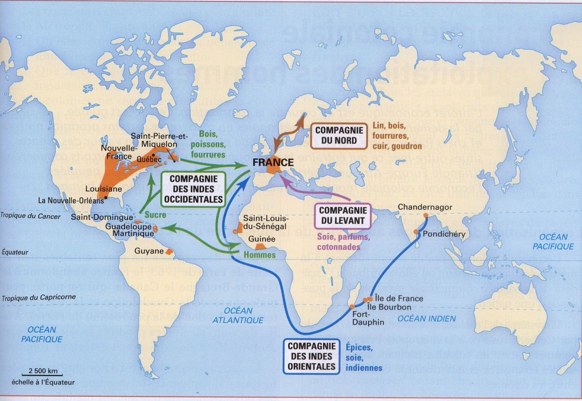 By 1789, France had been shorn of much of the territorial expanse of its overseas empire.