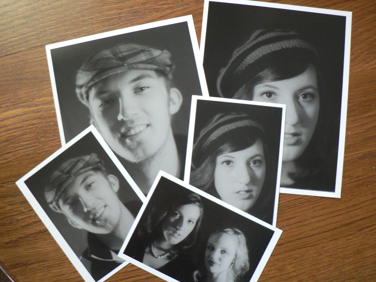 Develop Black and White Prints at home - Finished prints.