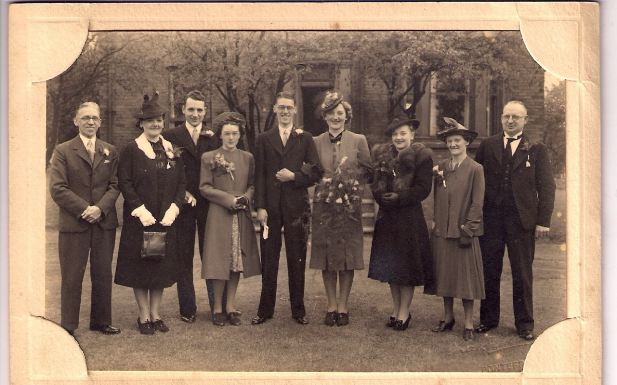 Without this wedding I wouldn't have had a big (half-) sister.  I have yet to find out who is the 3rd person from the left.