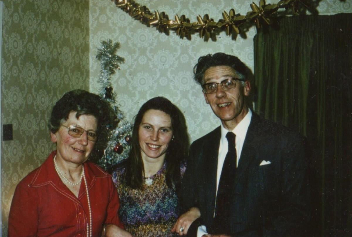 With Mum & Dad...