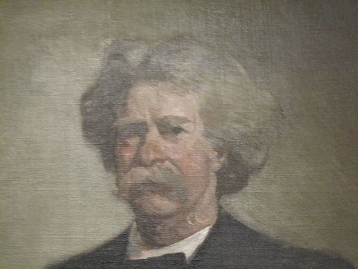 Mark Twain in National Portrait Gallery