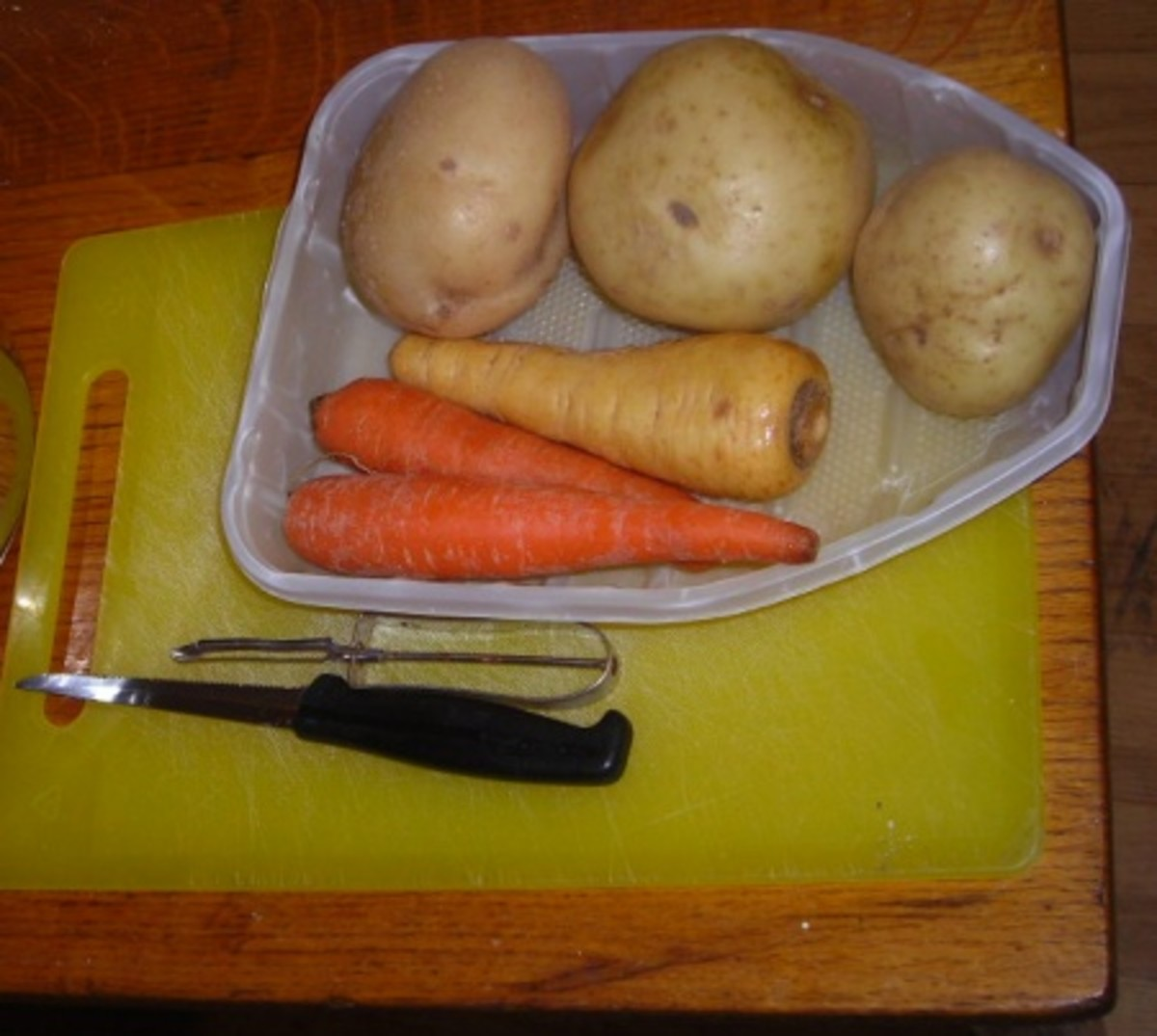 Potatoes, carrots and parsnips