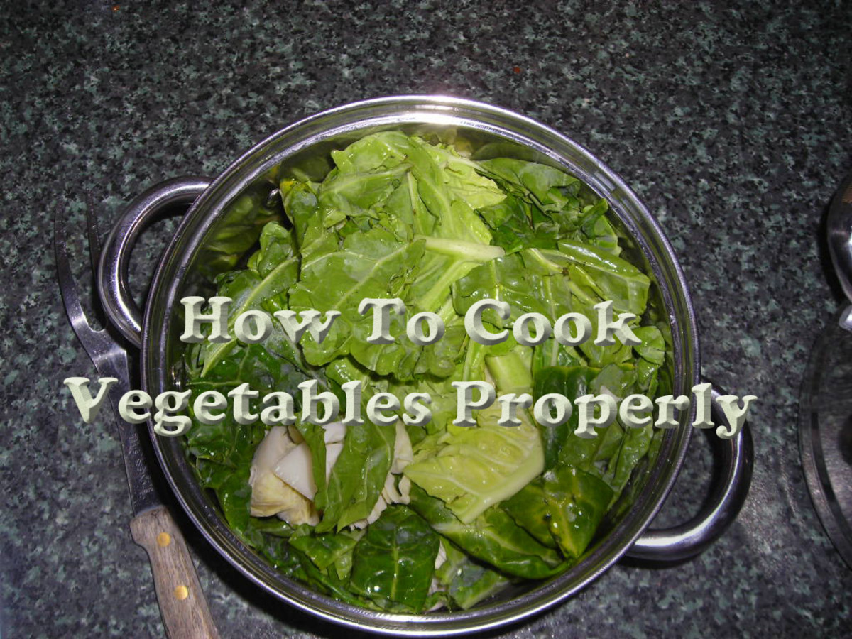 Learn How to Cook Vegetables Properly