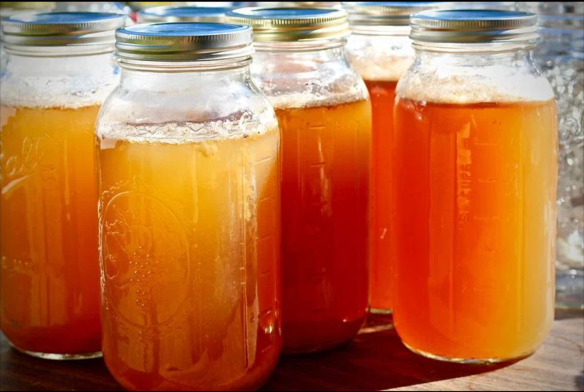 Cooled and refrigerated hot cider makes a great grab-and-go beverage.
