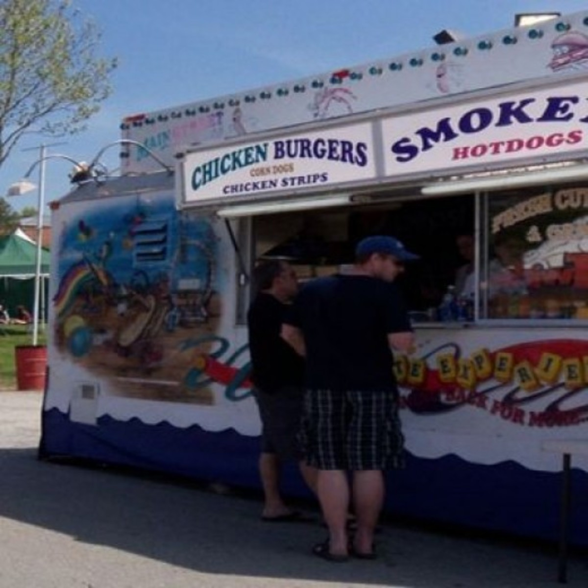Hotdogs, Hamburgers, Smokies the all time favourites here In Canada