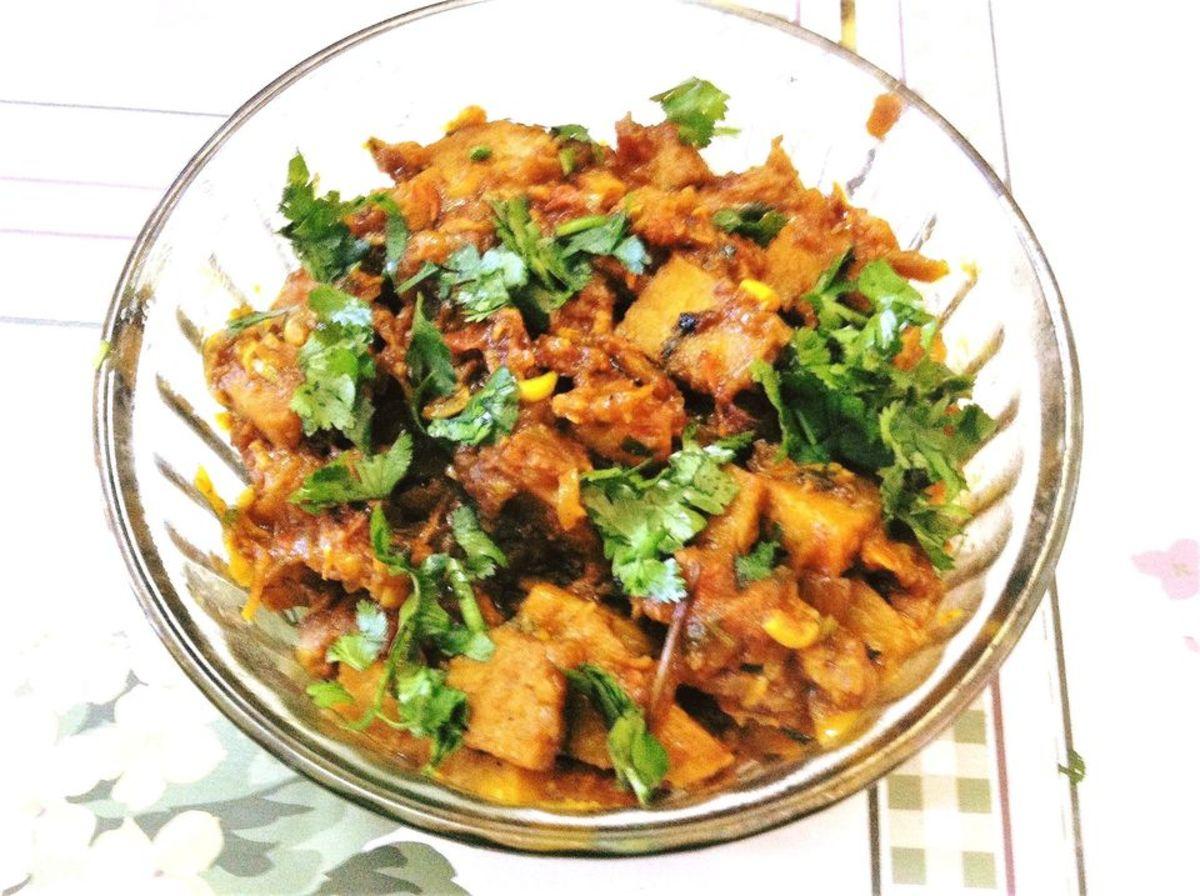 Suran Ki Sabzi (Yam Curry) Recipe