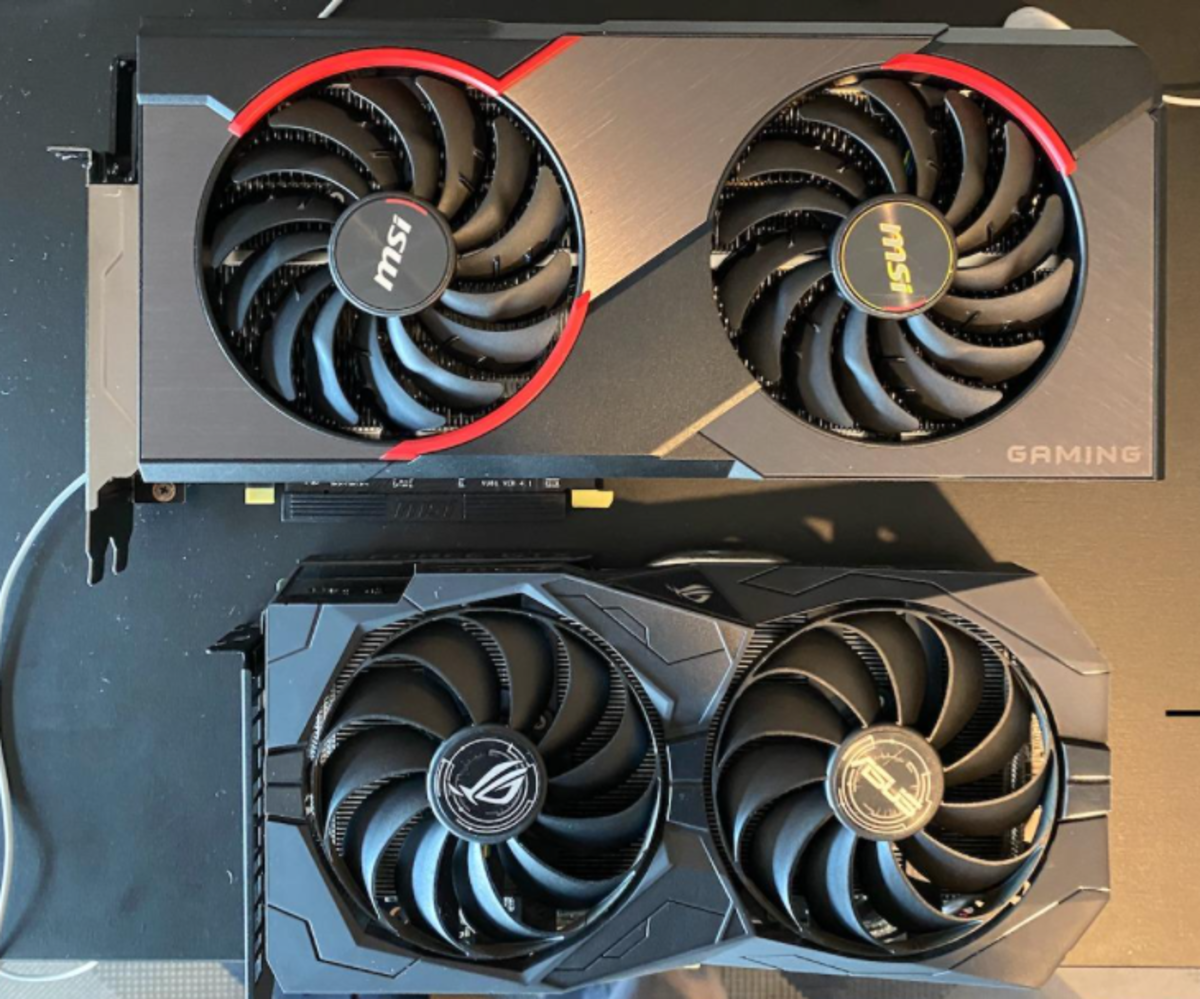 For its price and performance, the RX 5600 XT (top) is hard to ignore. Performance exceeds the 1660 and 1660TI and its performance is 1% faster on average than the more expensive 2060.