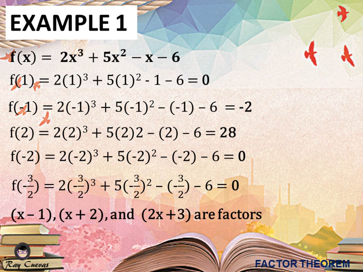 Example 1: Factorizing a Polynomial by Applying the Factor Theorem