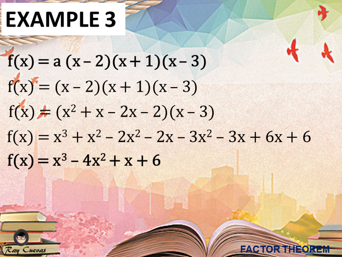 Example 3: Finding a Polynomial with Prescribed Zeros