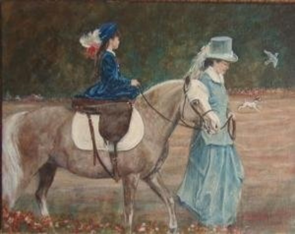 Walking the Pony Merrylegs