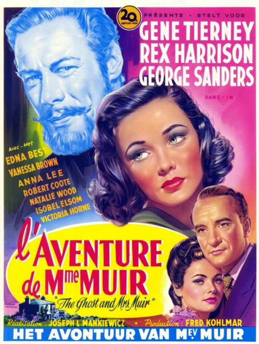The Ghost and Mrs. Muir (1947) Belgian poster