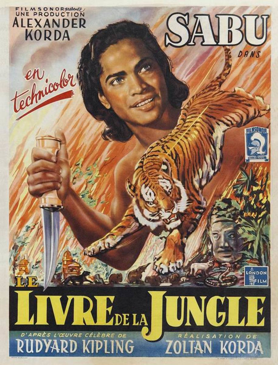 The Jungle Book (1942) Belgian poster