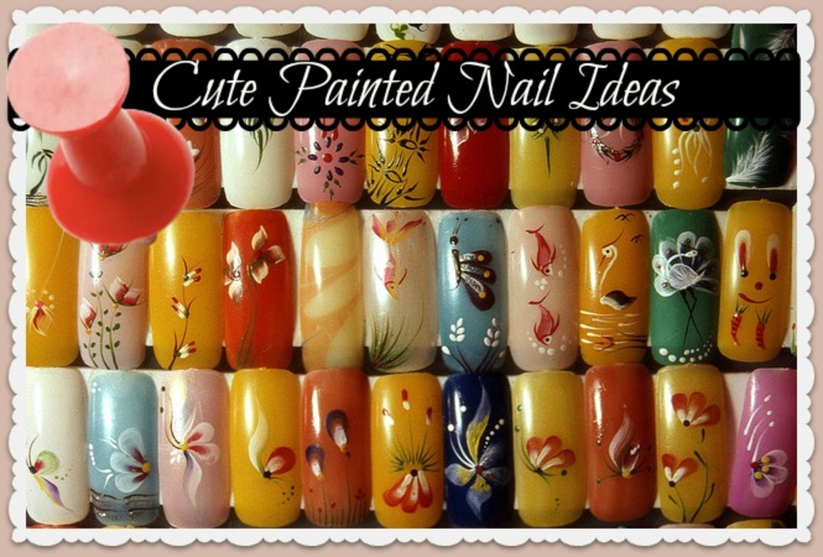Cute ideas for painting designs on your nails. Cupcake nails, watermelon nails and even newspaper transfer nails! DIY.