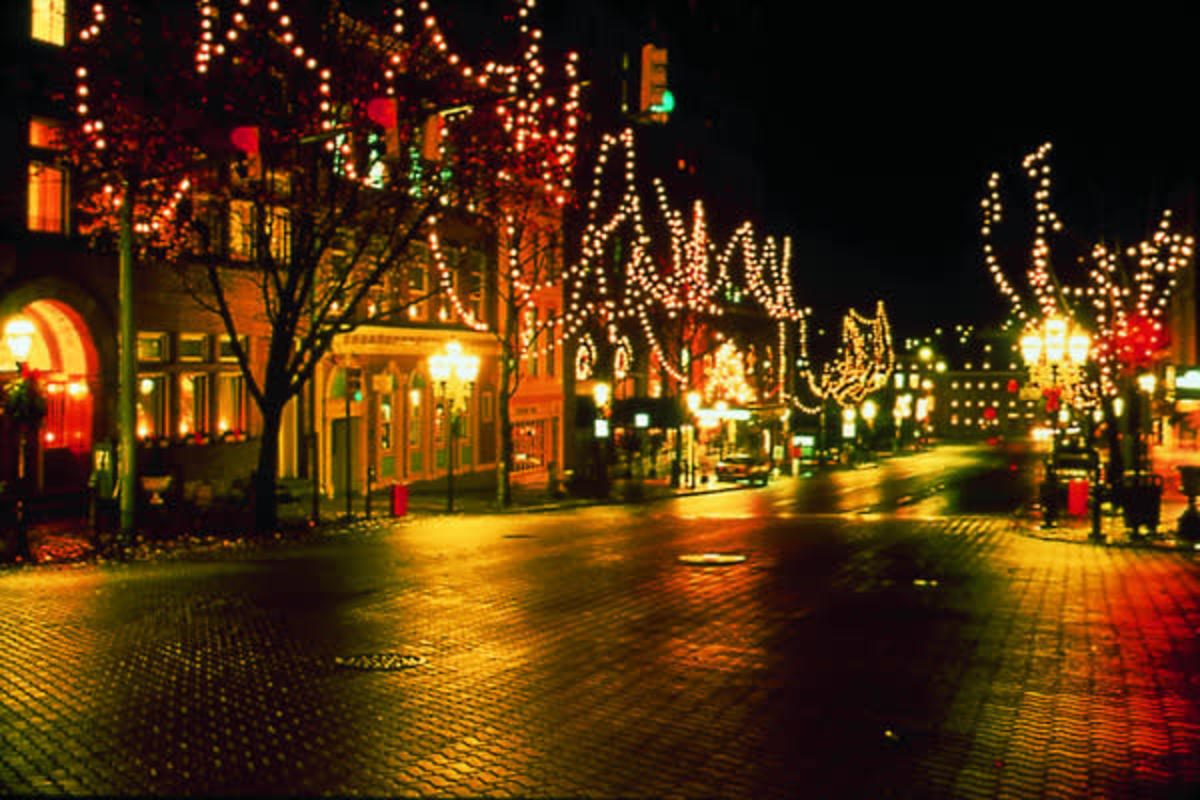 Modern-day Bethlehem at Christmas