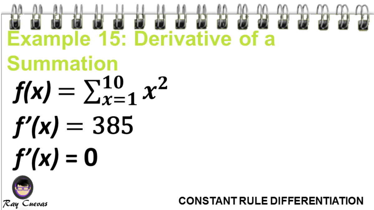 Example 15: Derivative of a Summation