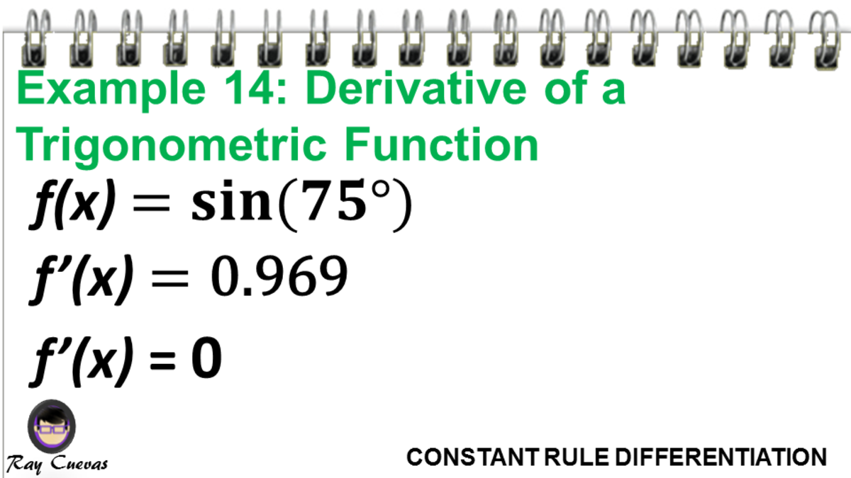 Example 14: Derivative of a Trigonometric Function
