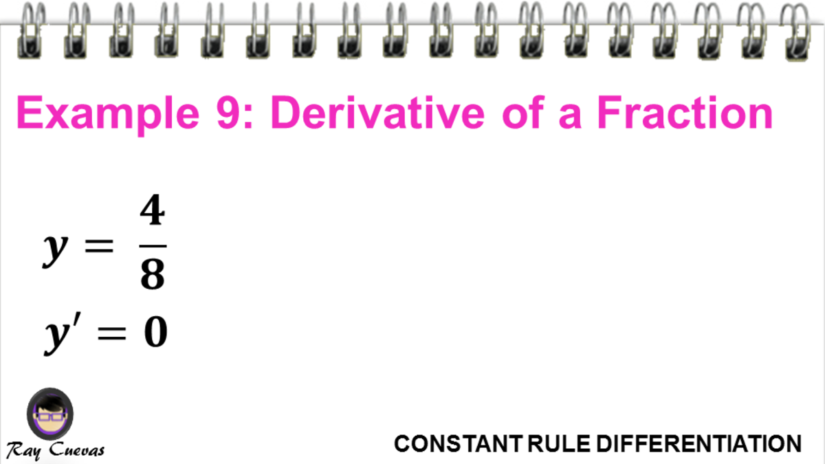 Example 9: Derivative of a Fraction