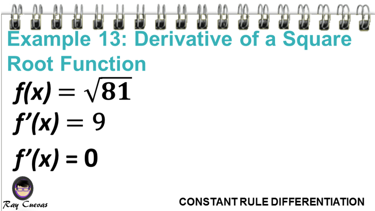 Example 13: Derivative of a Square Root Function