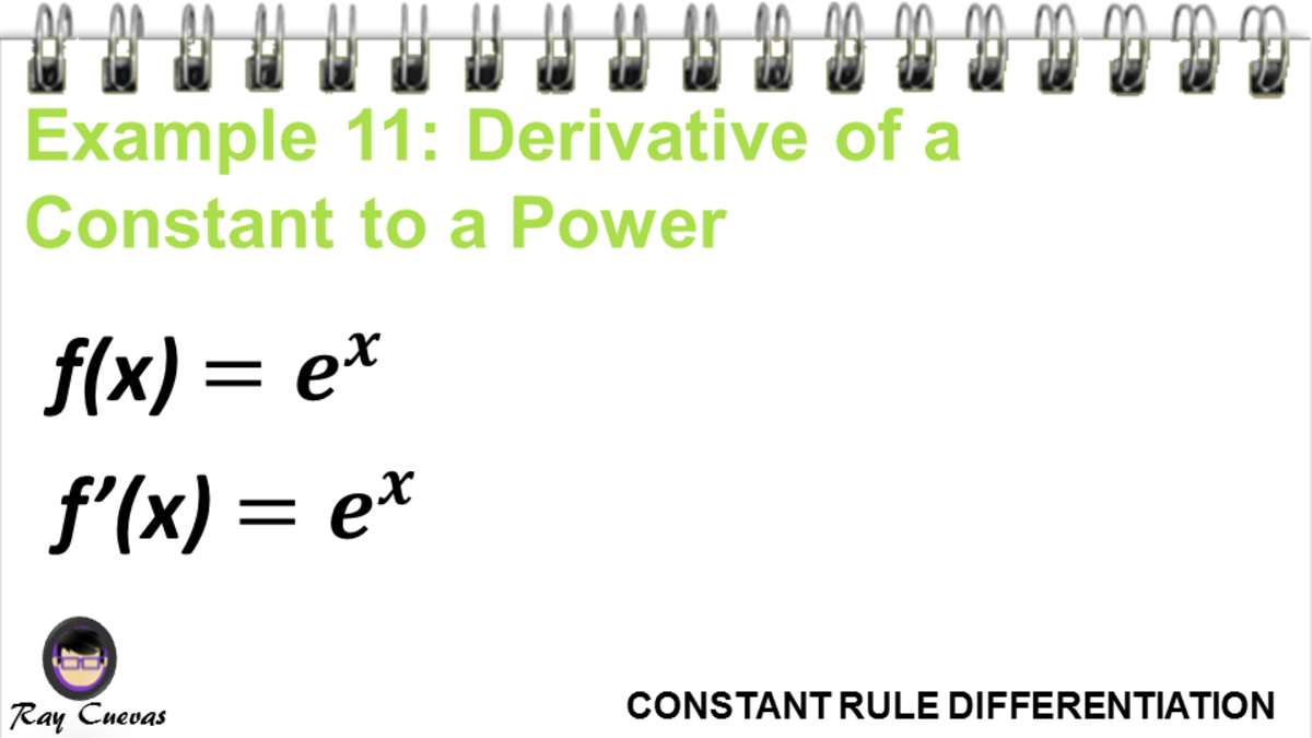 Example 11: Derivative of a Constant to a Power
