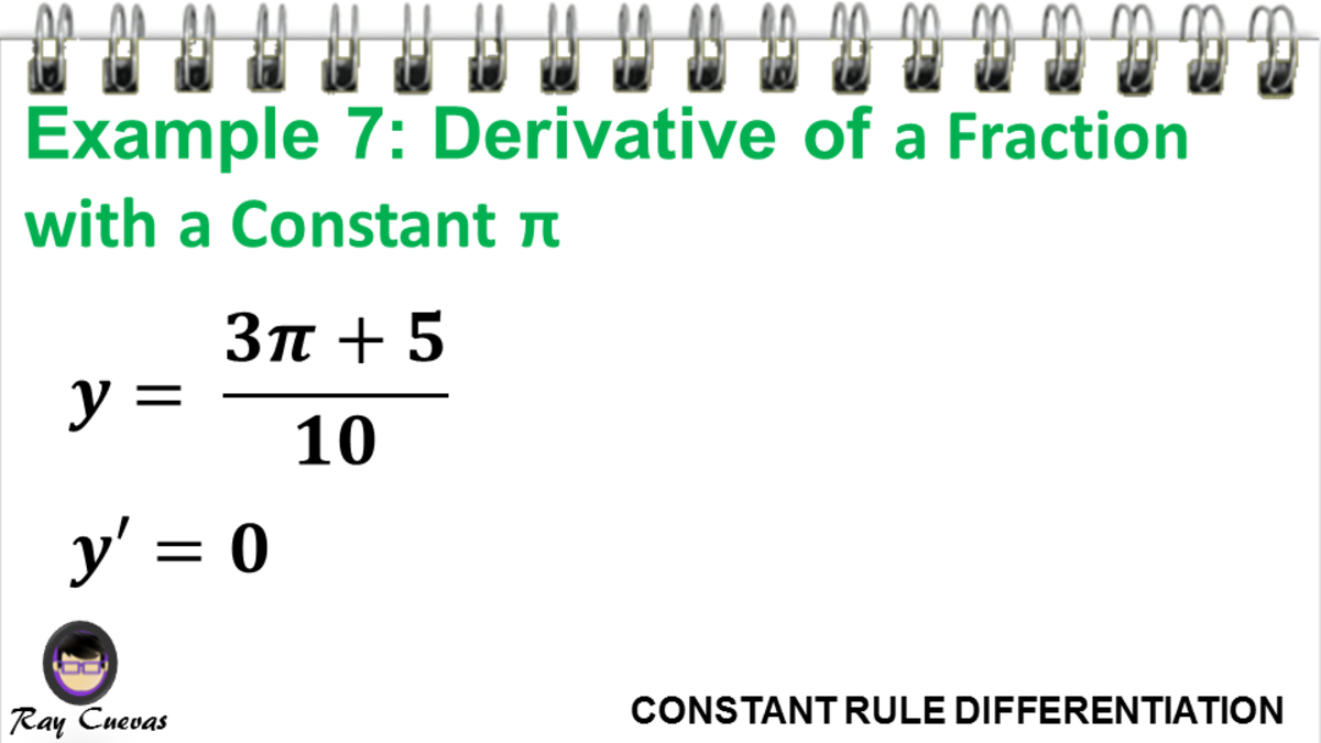 Example 7: Derivative of a Fraction with a Constant Pi