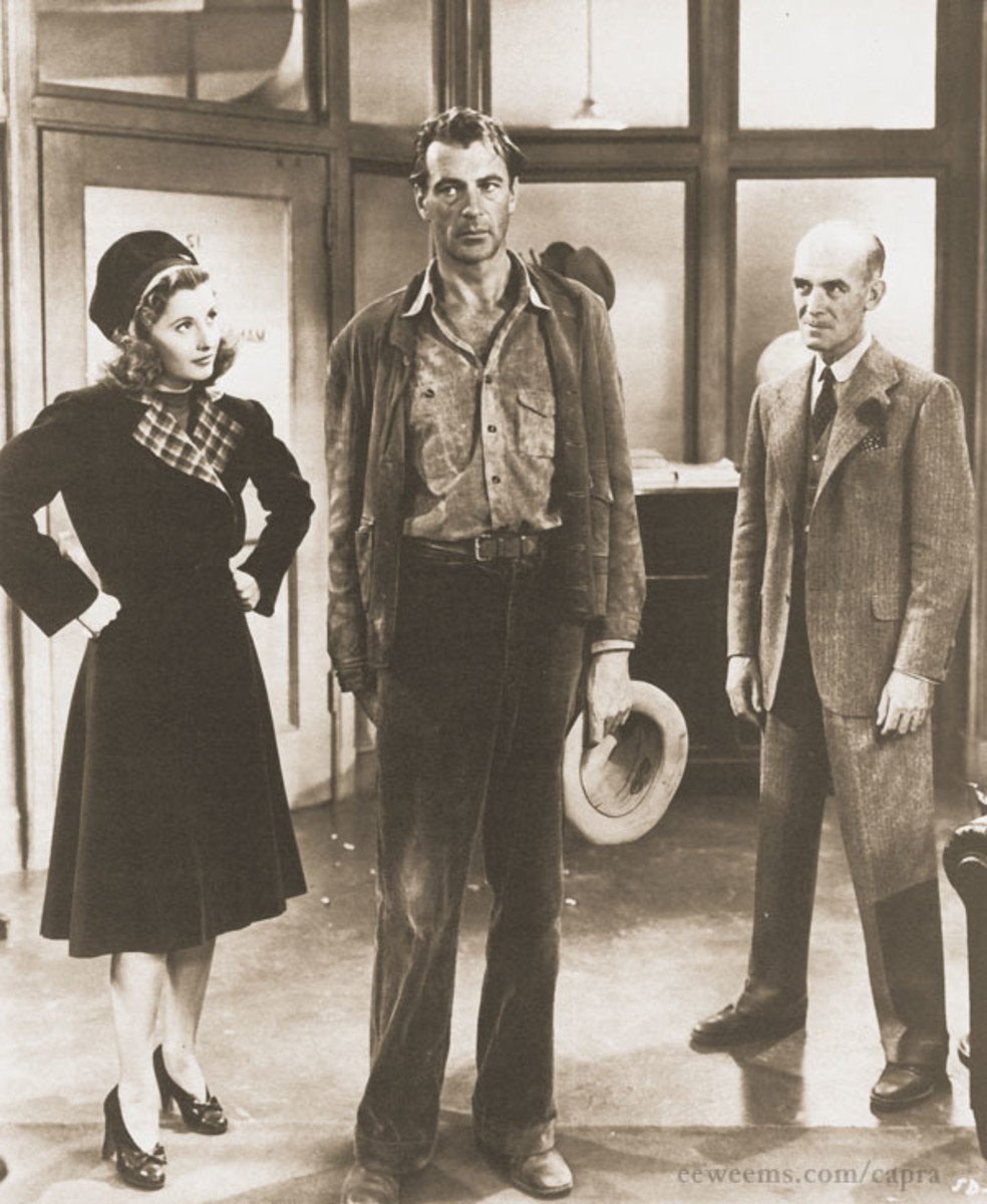 Barbara Stanwyck and James Gleason choose Gary Cooper