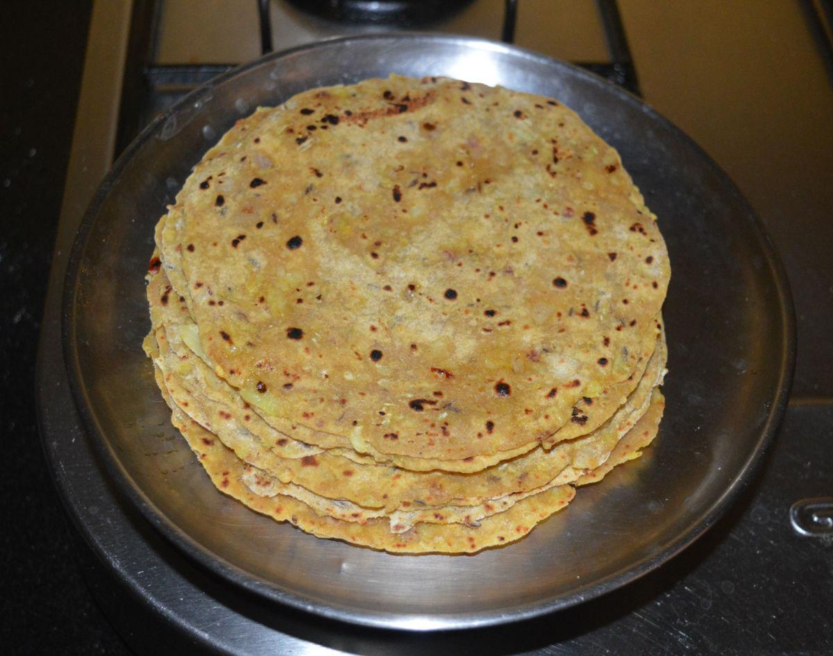 Spicy Cabbage Onion Paratha